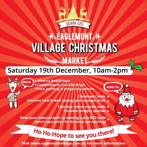 Eaglemont Village 2015 Christmas Market, Saturday 19th December, 10-2pm